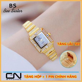 Đồng hồ nữ mặt vuông - Bs Bee Sister 1651 chính hãng - dây nhỏ đính đá cao cấp thumbnail
