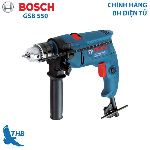 Máy khoan động lực Máy khoan gia đình Bosch GSB 550 công suất 550W mũi khoan tường tối đa 13mm - Dòng máy khoan bán chạy nhất năm 2019