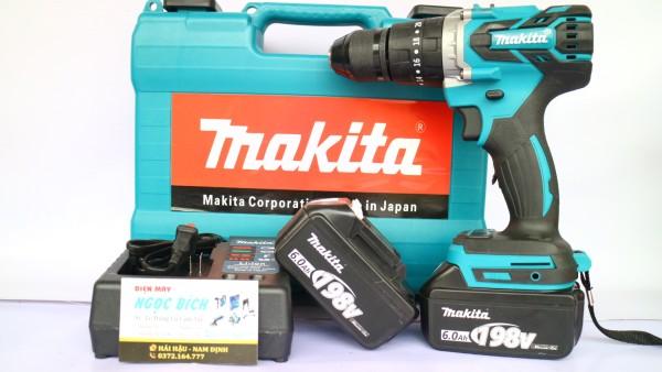 [Dòng không chổi than] Máy khoan pin Makita 118v đầu auto lock 13mm đủ phụ kiện cam kết hàng đúng mô tả chất lượng đảm bảo an toàn đến sức khỏe người sử dụng đa dạng mẫu mã
