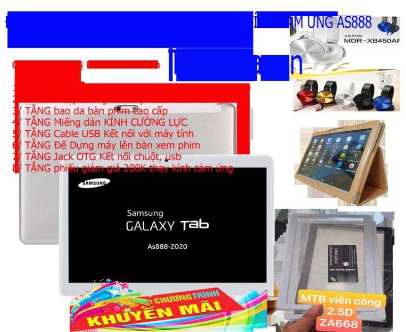 Tablet japan AS888 phiên bản 2020 tặng kèm 1 mặt kính màn hình cảm ứng As888 chính hãng