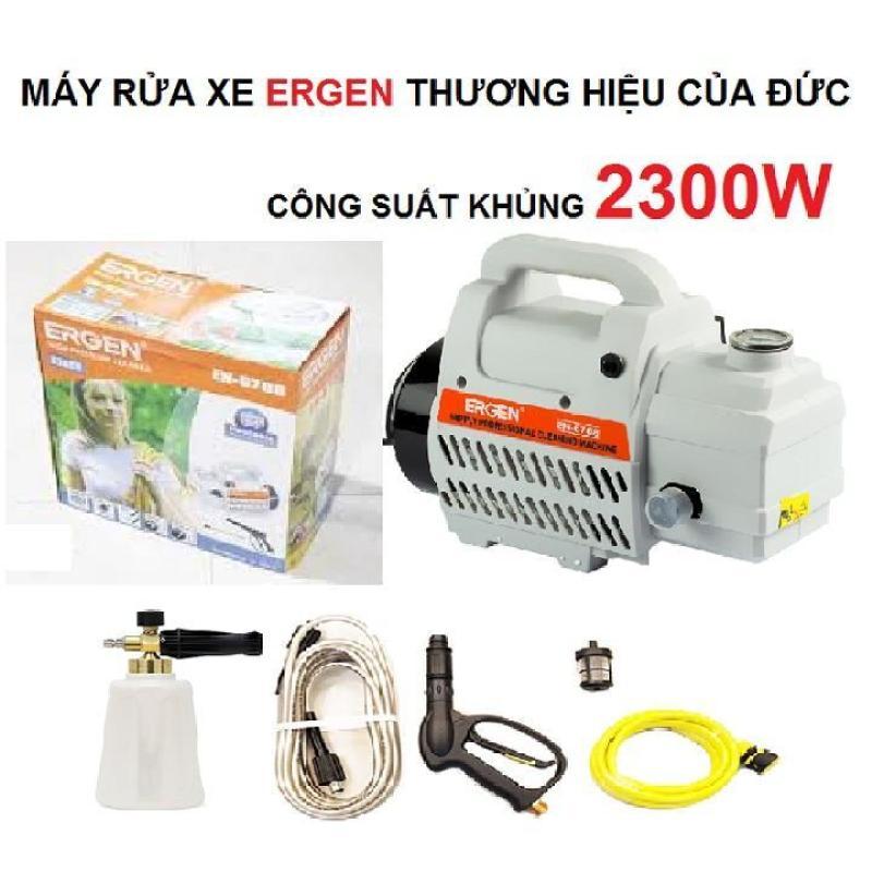Máy bơm xịt rửa xe áp lực cao Ergen EN-6708 thương hiệu của Đức công suất khủng 2300W, hoạt động êm và khỏe