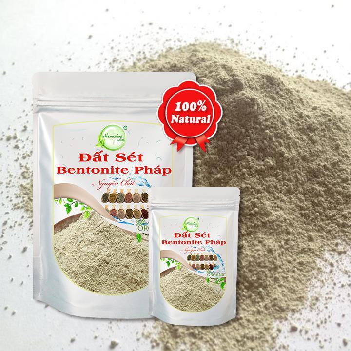 Bột đất sét Bentonite giải độc cho da, trị mụn trứng cá, làm sạch dầu trên tóc Henashop 10gr