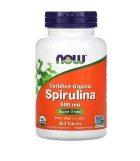 USA - Viên tảo Spirulina Now 500mg hộp 200 viên thumbnail