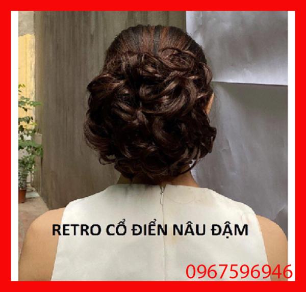 Tóc giả, búi tóc giả trung niên retro cổ điển