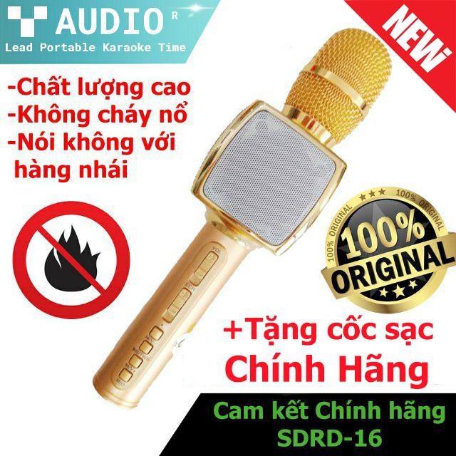 ( Hàng Chính Hãng -  Freeship ) Micro Hát Karaoke Bluetooth Loại Nào Tốt Mua Ngay Mic SD 16 Kết Nối Micro Bluetooth-Cao Cấp Combo Mic Hát Karaoke Kèm Loa Cực Hay Âm Thanh Siêu Trầm Chống Hú Tốt -Bảo Hành 1 Đổi 1