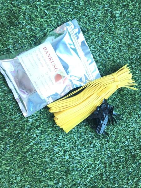 Bảng giá combo 40 sợi dankung 0.9mm màu vàng tặng kèm 10 miếng da và dây buộc