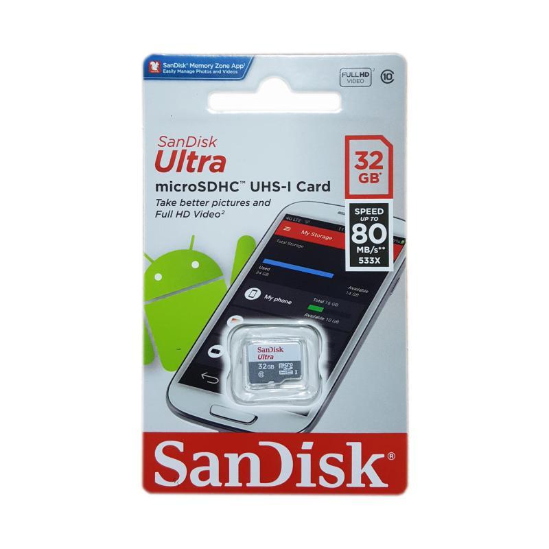 [Nhập ELJAN11 giảm 10%, tối đa 200k, đơn từ 99k]Thẻ Nhớ MicroSDHC SanDisk Ultra 533X 32GB 80MB/S