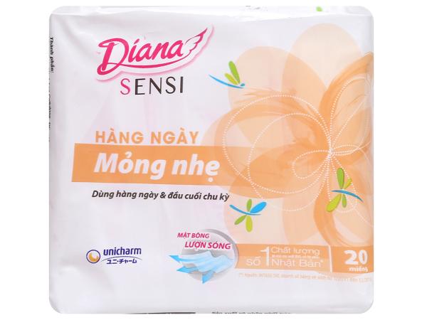 BVS Hằng Ngày Diana Sensi Mini/Slim-Mỏng Nhẹ 20-40 Miếng giá rẻ