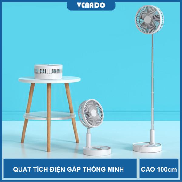 Quạt tích điện thông minh loại lớn dài 1 mét gập 180 độ pin dung lượng lớn 7200mAh - Venado