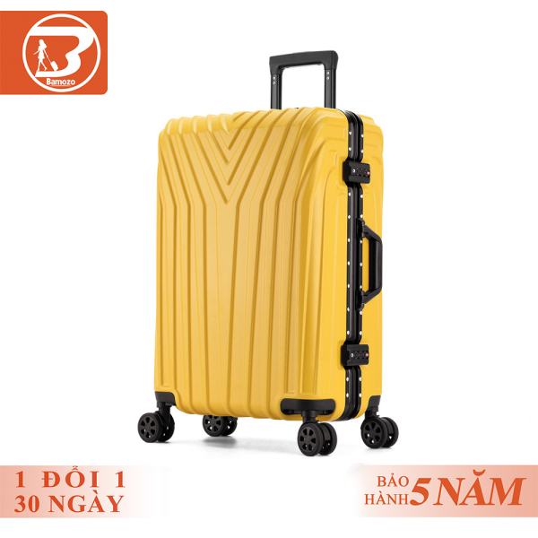 Vali khóa kéo du lịch vali khung nhôm khóa sập Bamozo JESSIE 20inch/24inch Bảo hành 5 năm