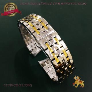 [HOT SALE] Dây đồng hồ kim loại mắt đúc Tissot 1853 size 19,20mm (Trắng, Demi Vàng) thumbnail