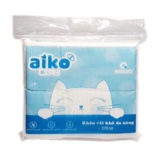 Khăn Vải Khô Đa Năng Aiko - Gói 270 Tờ 300g thumbnail