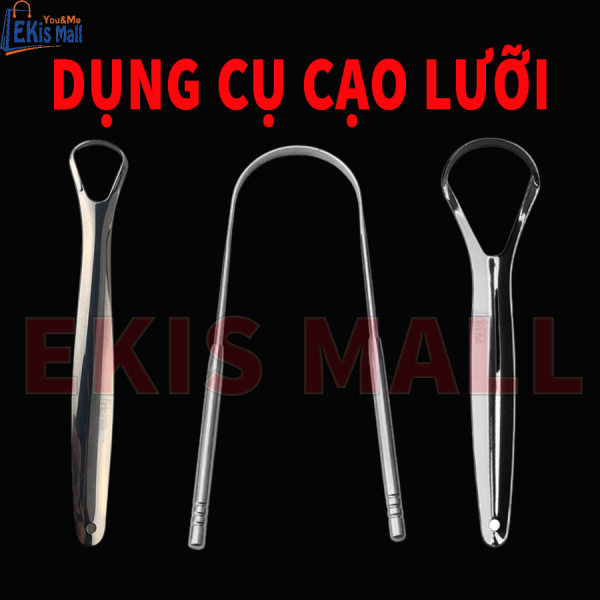 Cạo lưỡi Dụng cụ vệ sinh lưỡi bằng thép không gỉ Cây cạo lưỡi Thanh chà lưỡi Chăm sóc răng miệng gia đình nhập khẩu
