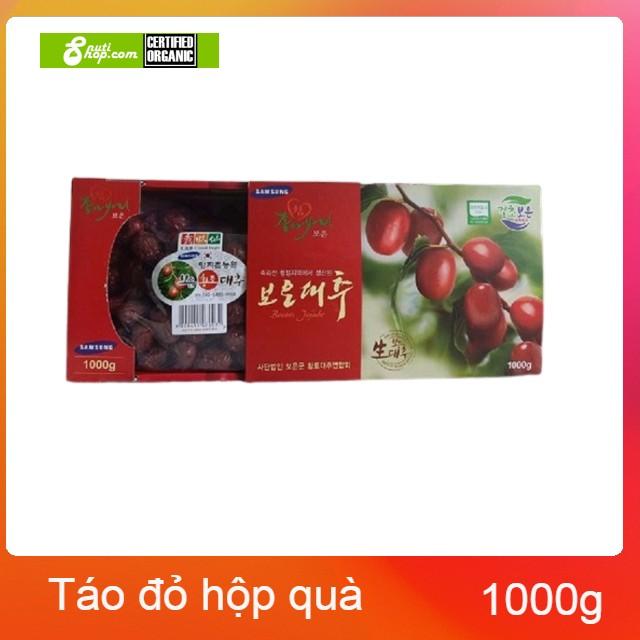 [HCM]Táo đỏ sấy khô Hàn Quốc Jujube Hàn Quốc hộp quà tặng 1kg - Tặng kèm túi quà tặng