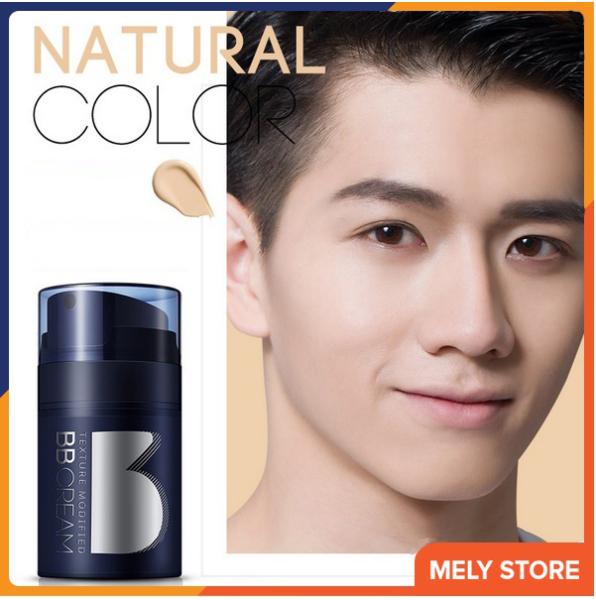 Kem che khuyết điểm BB CREAM dành cho nam giới che phủ hoàn hảo các khuyết điểm trên mặt, che mụn, màu tự nhiên, có dưỡng ẩm làm trắng da 50g Melystore DNT110011