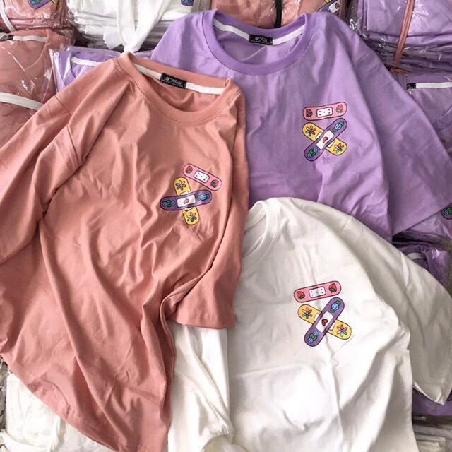 Áo Phông, áo Thun Nam Nữ Form Rộng Tay Lỡ Unisex Băng Keo Vui Nhộn Từ 50-70kg Siêu Khuyến Mãi