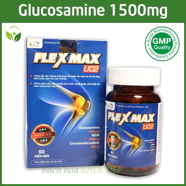 Viên Uống Bổ Xương Khớp Glucosamine 1500mg Flexmax giảm đau nhức mỏi xương khớp, giảm thoái hóa khớp - Hộp 60 viên Chuẩn GMP Bộ Y Tế giá rẻ