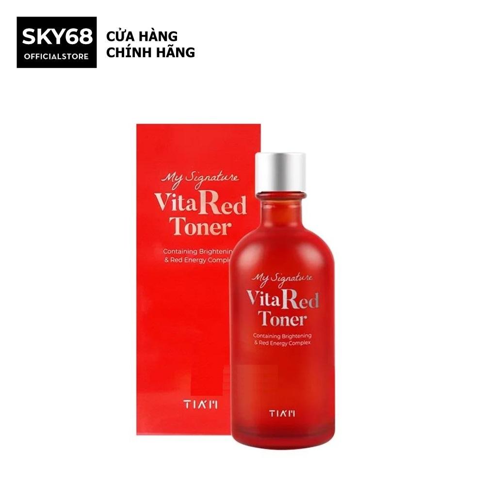 Toner Dưỡng Trắng, Se Khít Lỗ Chân Lông Tiam My Signature Vita Red Toner 130ml cao cấp
