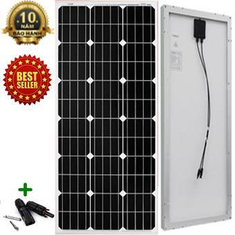Tấm Pin năng lượng mặt trời đơn tinh thể Mono 150W tặng kèm jack MC4