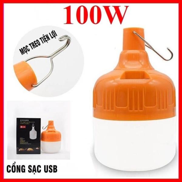 BÓNG ĐÈN LED SẠC TÍCH ĐIỆN 6-8H- 100W CÔNG TẮC 3 CHẾ ĐỘ SÁNG (Chất liệu: Nhựa ABS độ bền cao không bị vỡ khi va đập nhẹ)