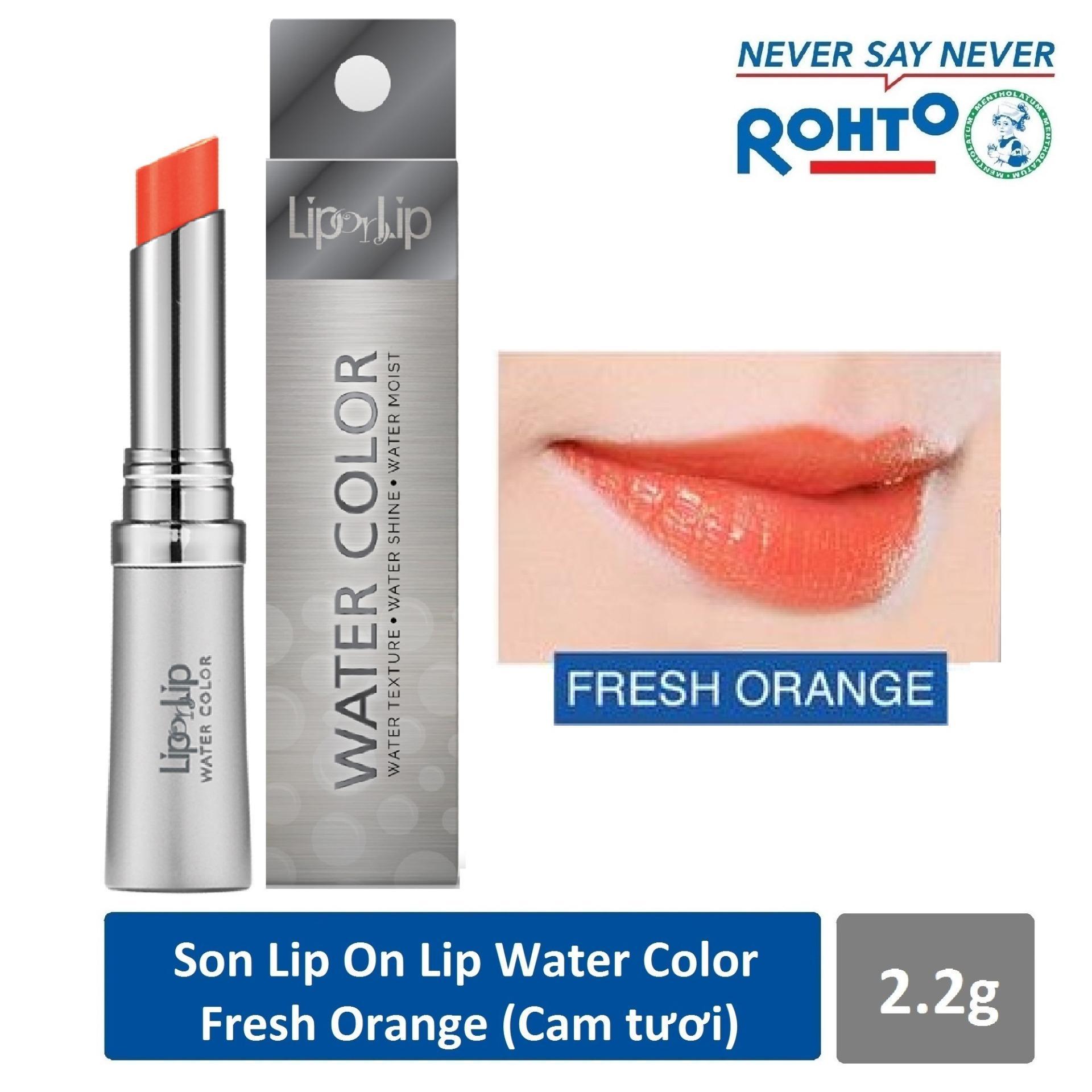Son trang điểm Lip On Lip Water Color Fresh Orange 2.2g (Cam tươi) tốt nhất