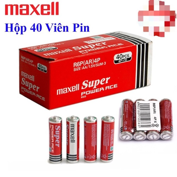 Pin tiểu Maxell AA ( 2A ) 20 viên 40 viên giá rẻ