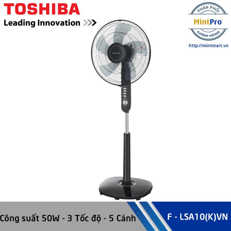 Quạt đứng Toshiba F-LSA10(K)VN - Màu đen, 3 tốc độ, 5 cánh - Hàng chính hãng