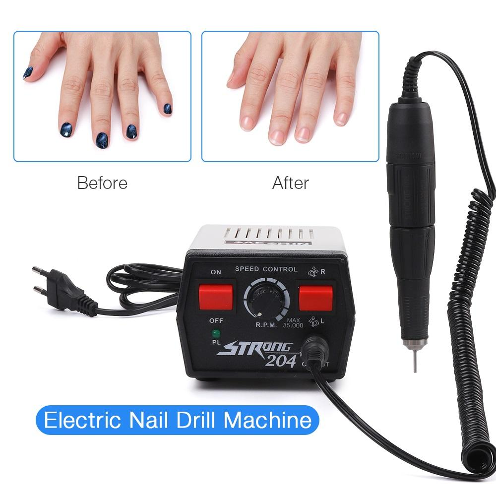 65W Electric Nail Drill Machine 35000rpm Strong 204 Electric Manicure Set Pedicure Machine Professionals Electric Nail File SAESHIN