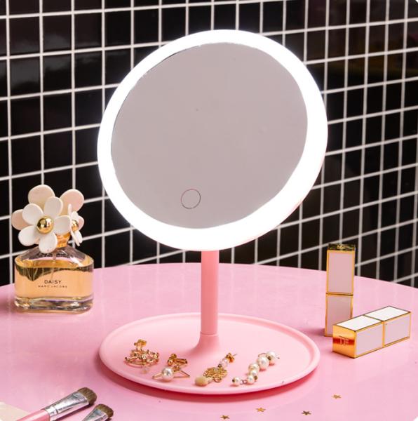 Gương Đèn Led – Gương Trang Điểm – Gương Đèn Led Để Bàn giá rẻ