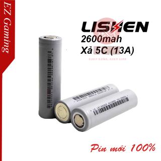 Cell Pin 18650 Lishen xám chính hãng 2600mAh, Dòng xả cao 13A , giá rẻ dùng cho pin dự phòng, pin máy khoan...- Pin 18650 2600mAh thumbnail