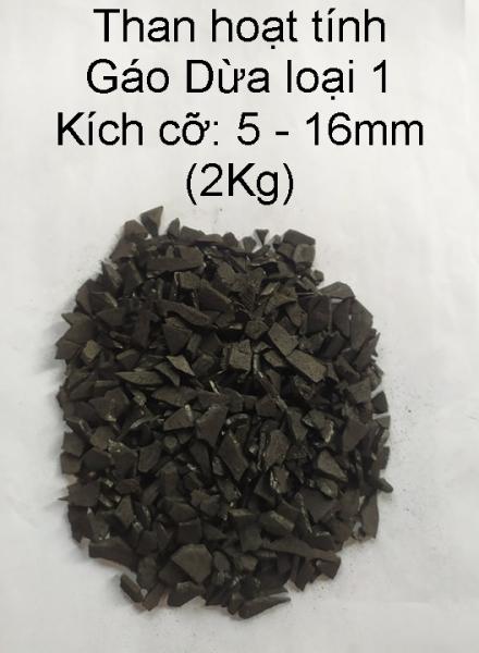 Than hoạt tính GÁO DỪA, than hoạt tính lọc nước, lọc khí loại 1 (5mm - 16mm) (2kg )
