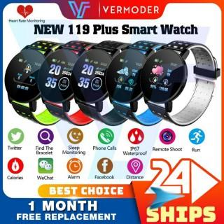 Đồng hồ thông minh 119 Plus mặt tròn chuẩn smartwatch Samsung Active. Thông báo cuộc gọi tin nhắn facebook. Chăm sóc theo dõi sức khoẻ hoạt động thể thao. Bảo hành 12 tháng thumbnail