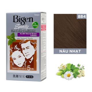 Thuốc nhuộm dưỡng tóc phủ bạc thảo dược Bigen Conditioner Thương hiệu Nhật Bản 80ml dạng kem - Nâu Nhạt 884 thumbnail