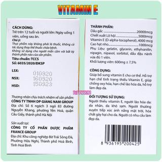 Viên Uống đẹp da Vitamin E Đỏ Jeykyo 4000mcg Chiết xuất Hạt Nho,1000mcg, Dầu Gấc 20000mcg, Aloe vera 500mg chống lão hóa- Hộp 100 viên 4