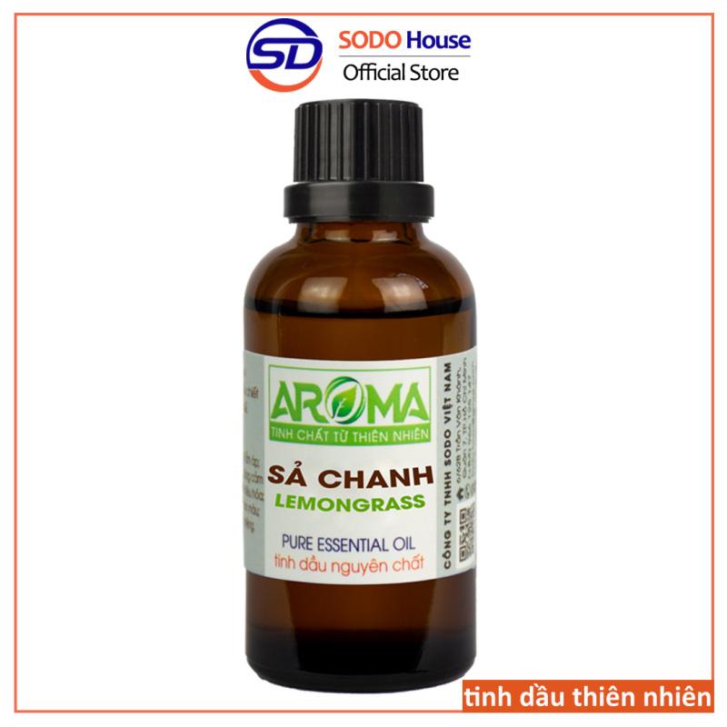 Tinh dầu Sả Chanh AROMA Pháp nguyên chất thiên nhiên, thanh lọc không khí thơm phòng đuổi muỗi, dầu thơm dưỡng tóc, Lemongrass nhập khẩu