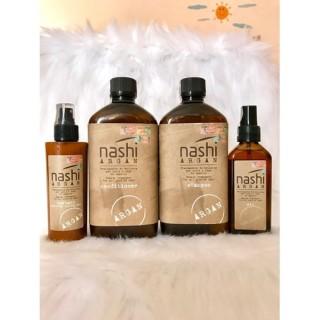 Bộ gội xả, tinh dầu, xịt dưỡng phục hồi tóc hư tổn NASHI ARGAN thumbnail