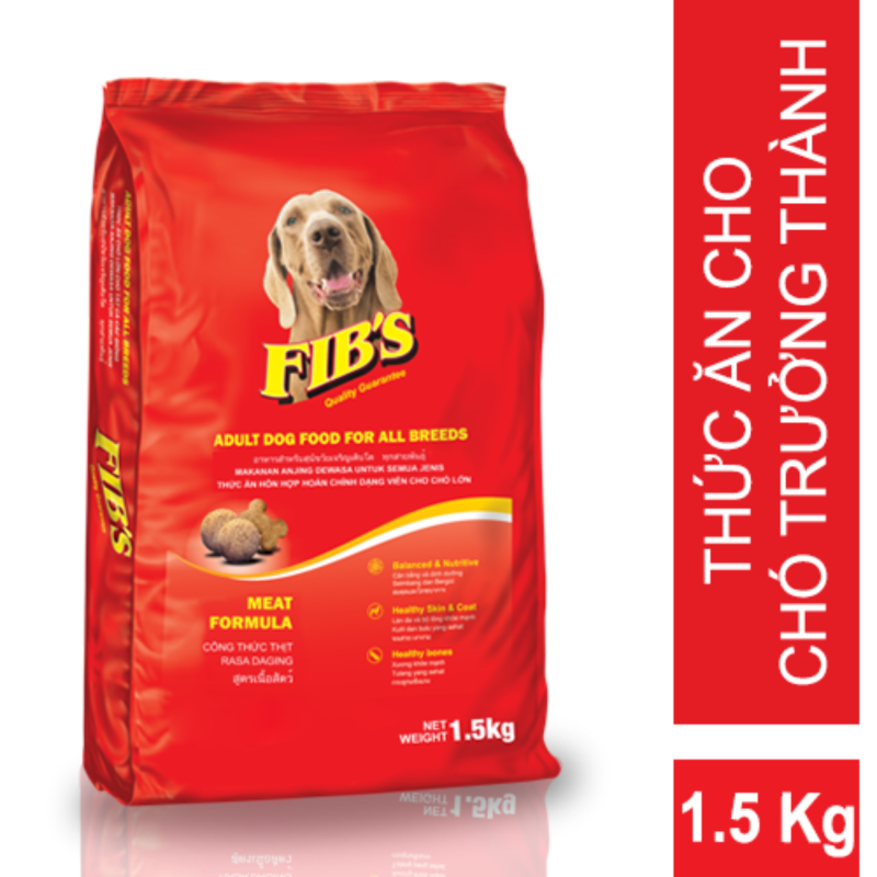 Thức ăn cho chó trưởng thành Fibs 1,5kg