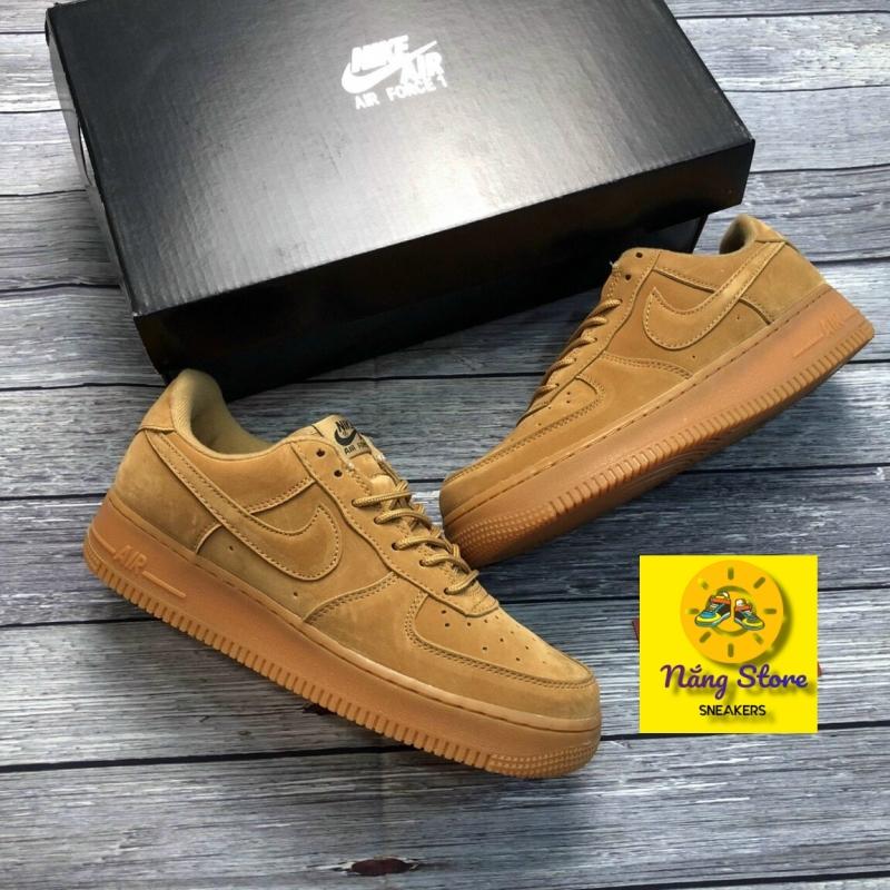 Giày sneakers nam nike AF1 (màu xám, màu nâu bò) da lộn đế hơi đàn hồi cực chất. Giày nike xxv, Giày thể thao nam đẹp, giày sneakers chạy bộ, giày thể thao tập gym, đi chơi, đi học, đi làm.