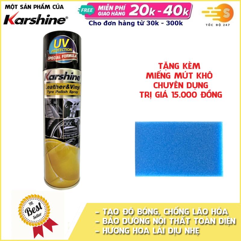 Chai xịt chăm sóc và bảo dưỡng nội thất ô tô Karshine 500ml (Hương chanh)