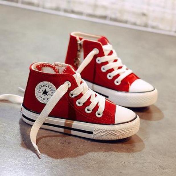 Giày cao cổ trẻ em kiểu Dây Buộc Có Khóa Ngang [T11-Ảnh Thật] giá rẻ