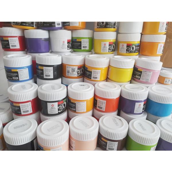 Mua màu acrylic 3d 100ml vẽ trên vải, tường đa chất liệu lựa chọn màu