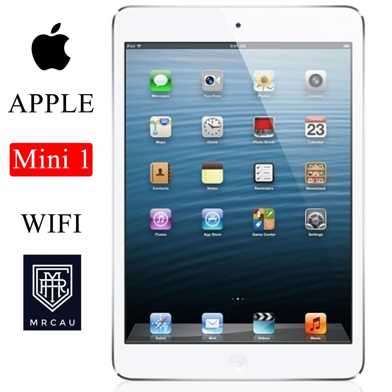 Máy tính bảng Apple IPAD Mini 1 -16GB - 2 Phiên bản 3G + WIFI hoặc Bản WIFI ONLY -  Full ứng dụng - Full phụ kiện - Bao đổi trả 30 ngày - Bảo hành 6 Tháng - Yên tâm mua sắm với Mr Cầu Shop (Máy tính bảng giá rẻ) Nhật Bản