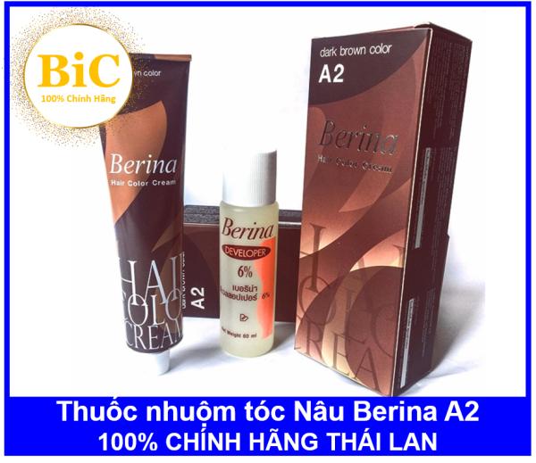 Thuốc nhuộm tóc Nâu Berina A2 - Chính hãng Thái Lan