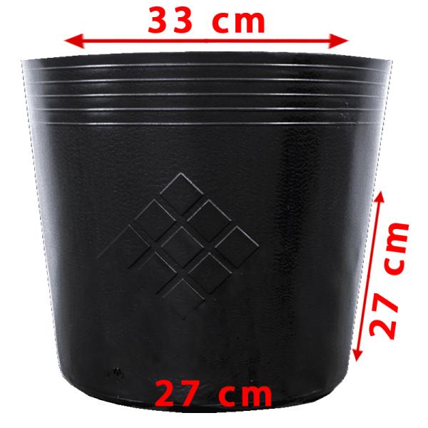 [HCM]25 Chậu 33x27x25cm nhựa PE dẻo trồng cây bền từ 5 đến 10 năm-77109