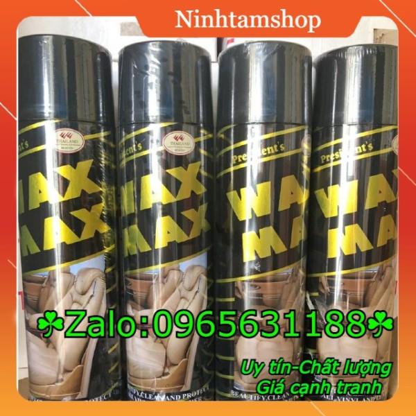 Waxmax - Thùng 12 chai xịt bóng đồ da và nội thất ô tô waxmax hương cà phê thái lan