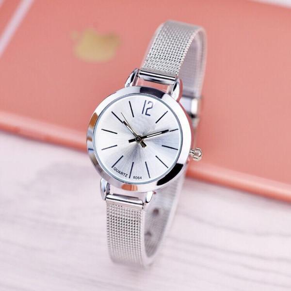 Nơi bán [Lấy mã giảm thêm 30%] Đồng hồ thời trang nữ Vesi dây lưới