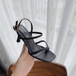 (Miễn ship và giảm thêm 30k) Giày nữ, giày sandal cao gót 5 phân gót nhọn quai dây xỏ ngón hot trend PinkShopGiayDep giày búp bê nữ sandal thumbnail