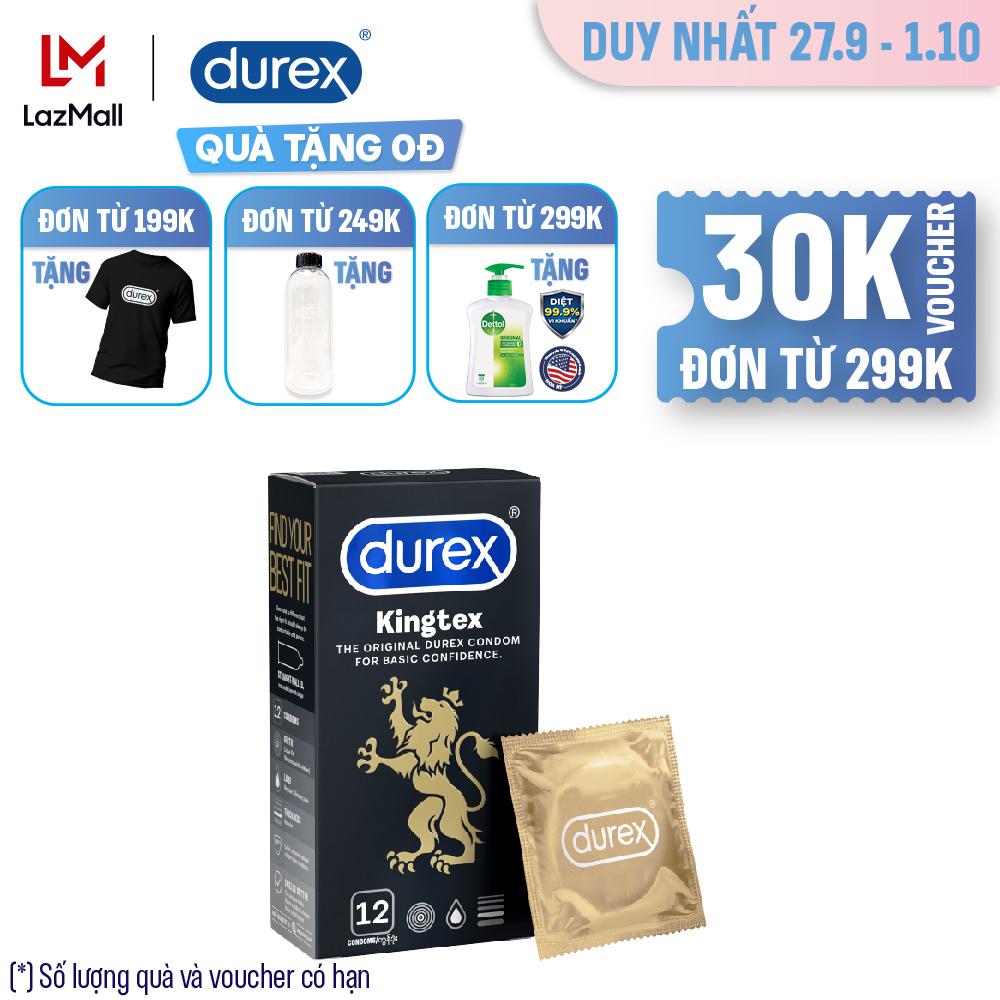 Bao cao su Durex Kingtex hộp 12 bao