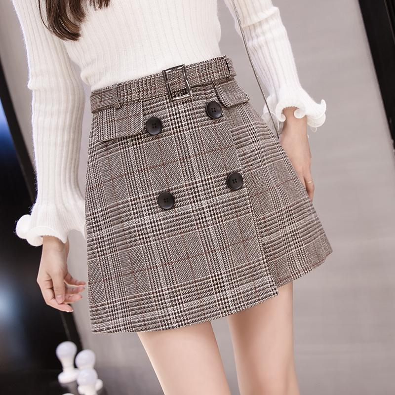 07bb38cf13 Product details of Plaid Skirt women Autumn And Winter New Style Korean  Style High-waisted Slimming Vintage Irregular A-line dress for women 2019  New Style ...