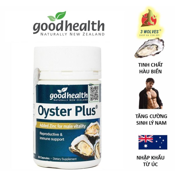 Tinh chất hàu New Zealand Good Health Oyster Plus tăng cường sinh lý nam giới - Hộp 30 viên nhập khẩu
